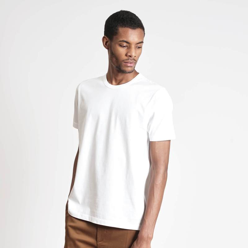 loom t shirt coton blanc exemple pour podcast business positif agence cause